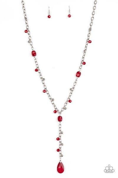 Afterglow Party Red Necklace
