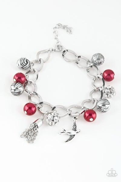 Lady Love Dove Red Bracelet