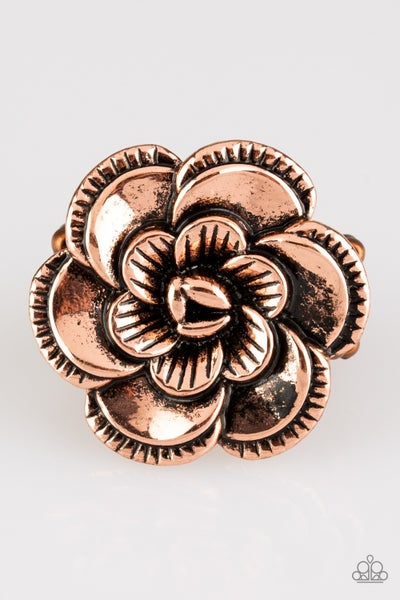 Flowerbed and Breakfast Copper Ring