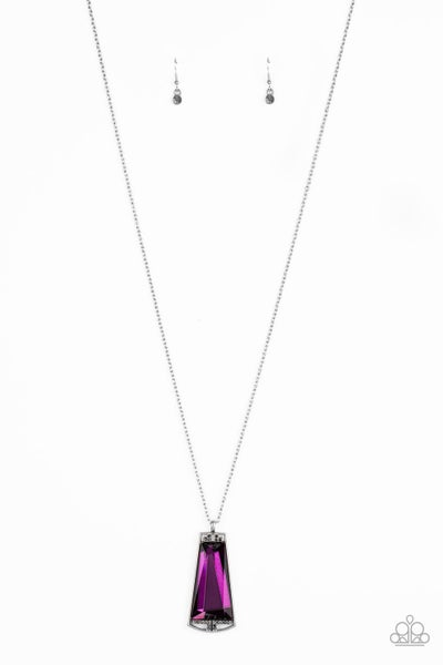 Empire State Elegance Purple Necklace