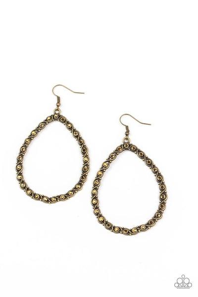 Galaxy Gardens Brass Earrings