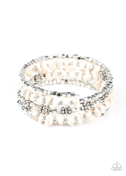 Rockin' Renegade White Bracelet