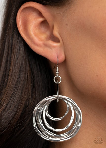 Ringing Radiance Silver Earrings