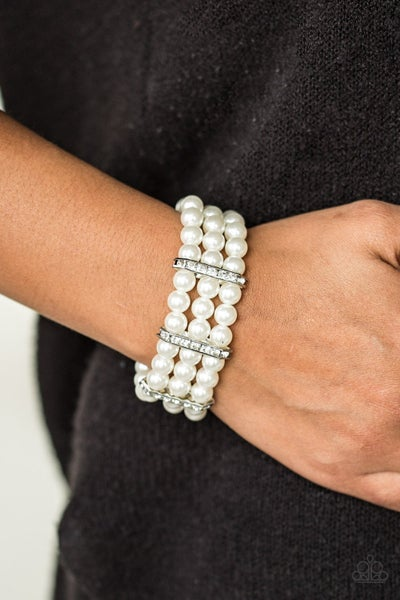 Put On Your Glam Face Pearl Bracelet