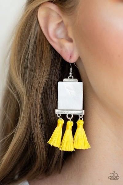 Tassel Retreat Yellow Earrings
