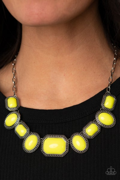 Let's Get Loud Yellow Necklace