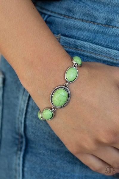 Serene Stonework Green Bracelet