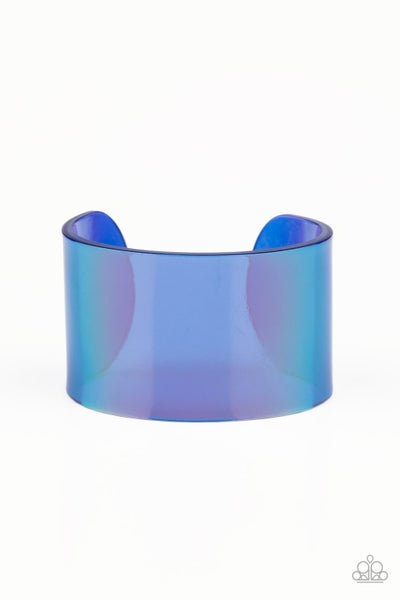 Holographic Aura Blue Bracelet