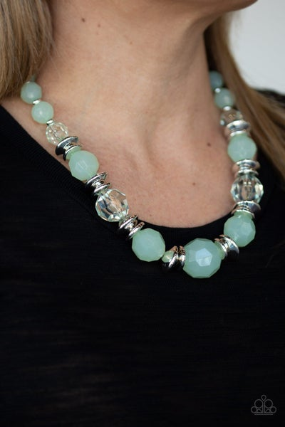 Dine and Dash Green Necklace