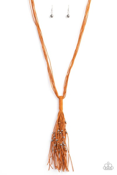 Hand-Knotted Orange Necklace