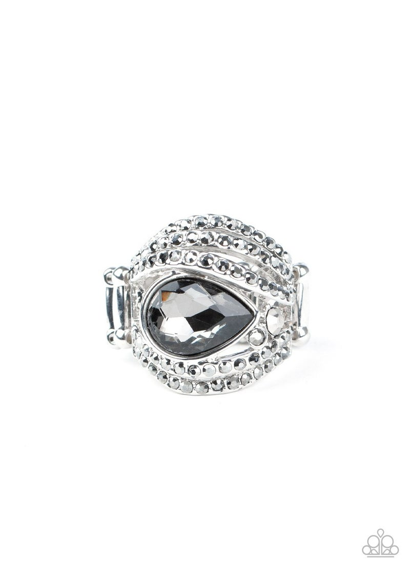 Stepping Up The Glam Silver Ring