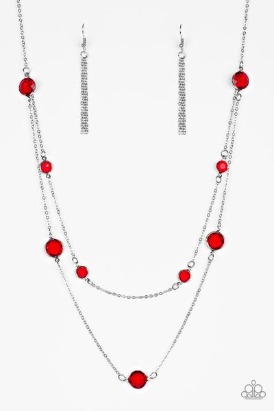 Raise Your Glass Red Necklace