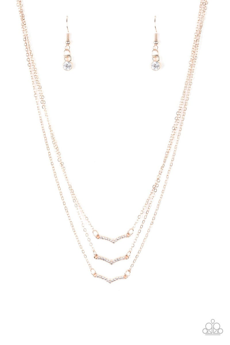 Pretty Petite Rose Gold Necklace