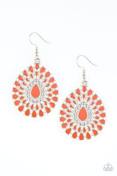 City Chateau Orange Earrings