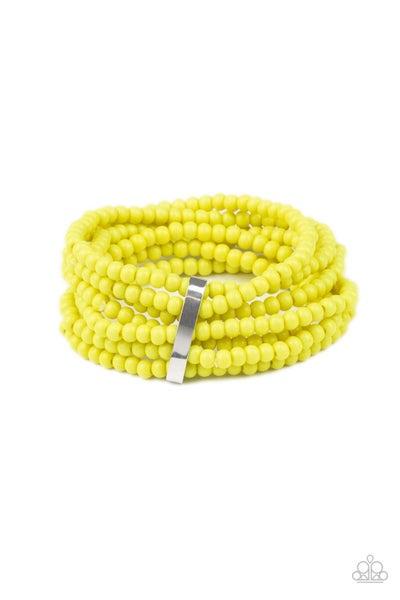 Thank Me Layer Yellow Bracelet