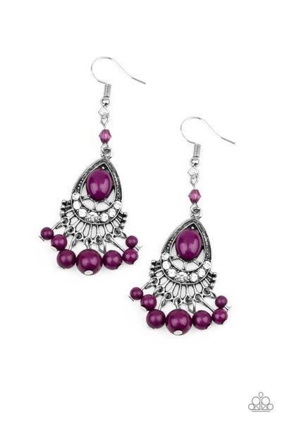 Floating On Heir Purple Earrings