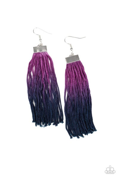 Dual Immersion Purple Blue Earrings