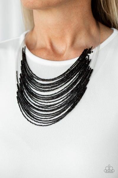 Catwalk Queen Black Necklace