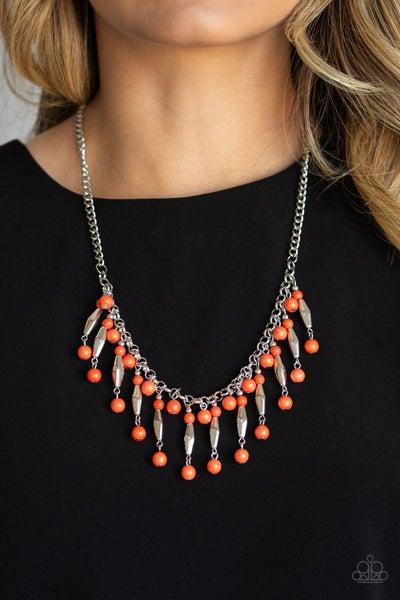 Earth Conscious Orange Necklace