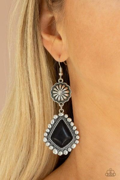 Country Cavalier Black Earrings