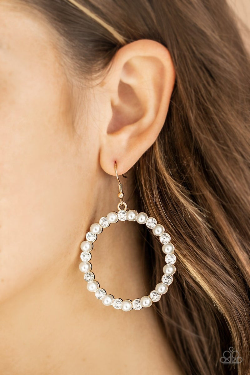 Pearl Palace Gold Earrings