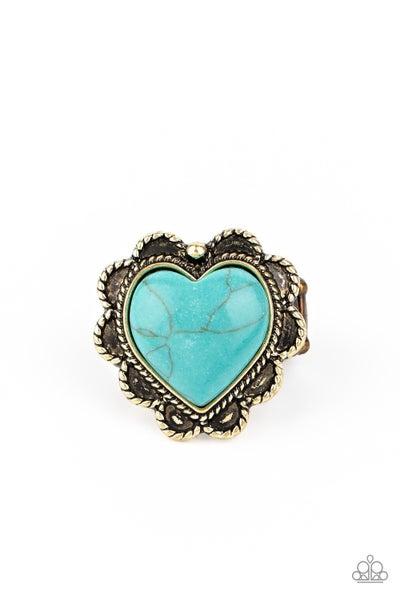 Desert Desire Turquoise Brass Ring