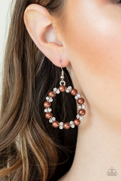 Symphony Sparkle Brown Earrings