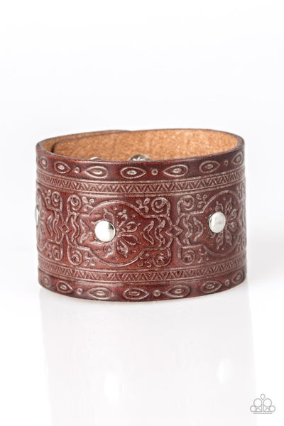 Boots and Broncos Brown Urban Bracelet