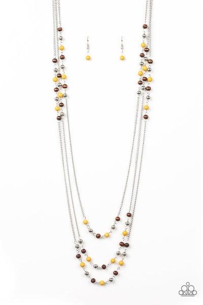 Seasonal Sensation Yellow Necklace