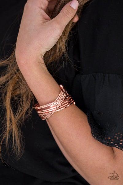 See A Pattern Copper Bracelet