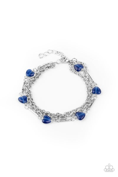 To Love and Adore Blue Bracelet