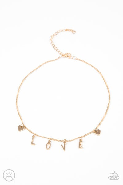 Love Conquers All Gold Choker