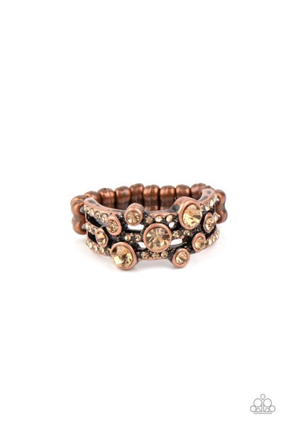 Bubbly Effervescence Copper Ring