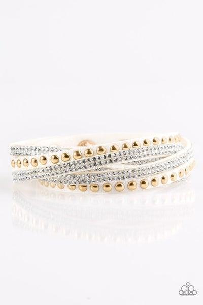 I Bold You So! White Bracelet