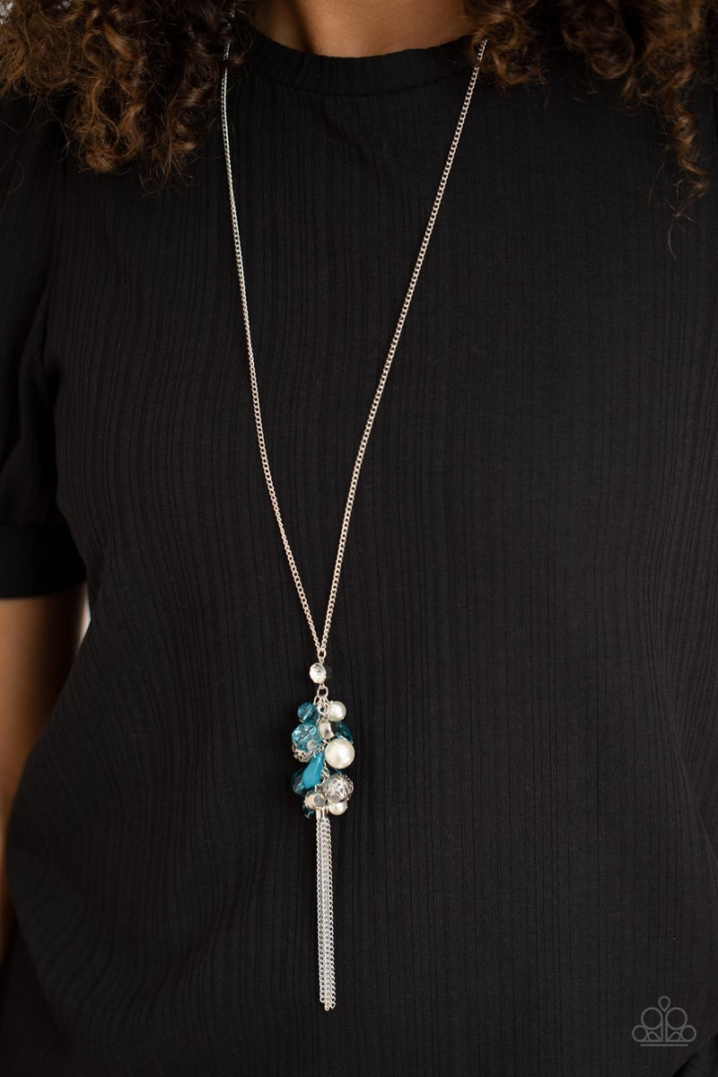 Party Girl Glow Blue Necklace