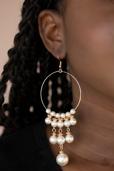 Working The Room Gold Earrings