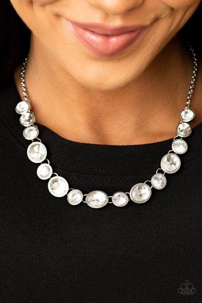 Girls Gotta Glow White Necklace