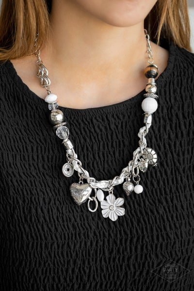 Charmed I Am Sure White Necklace