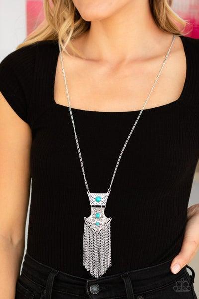 Totem Tassel Turquoise Necklace