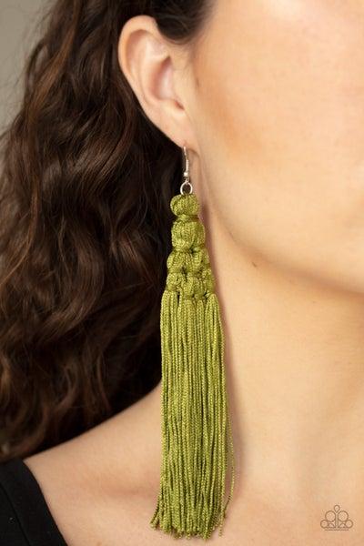 Magic Carpet Ride Green Earrings