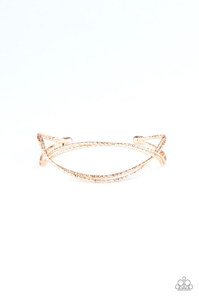 Bending Over Backwards Rose Gold Bracelet