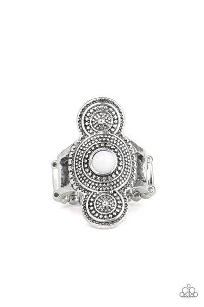 Desert Mandalas White Ring
