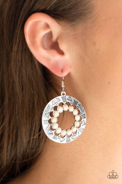 Organically Omega White Earrings