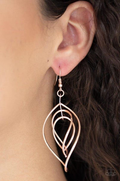 Asymmetrical Allure Rose Gold Earring