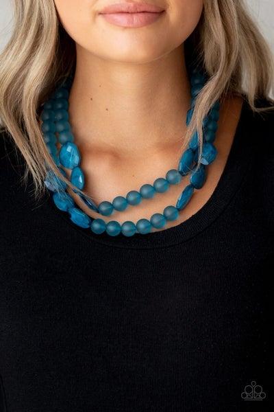 Arctic Art Blue Necklace