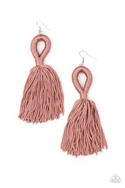 Tassels and Tiaras Pink Earrings