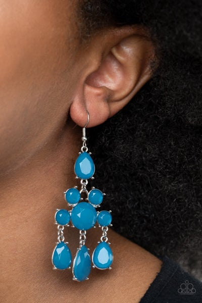 Afterglow Glamour Blue Earrings