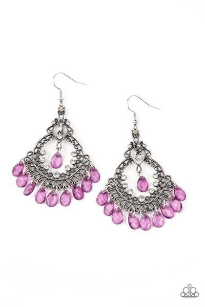 Lyrical Luster Purple Earrings