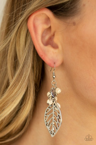 Forest Fronteir White Earrings