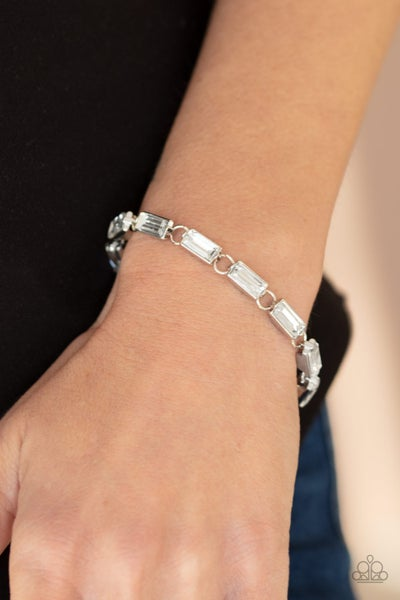 Irresistibly Icy White Bracelet